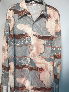 Kmart 1970s Parachute Men's Disco Shirt Size Large RENTAL L826