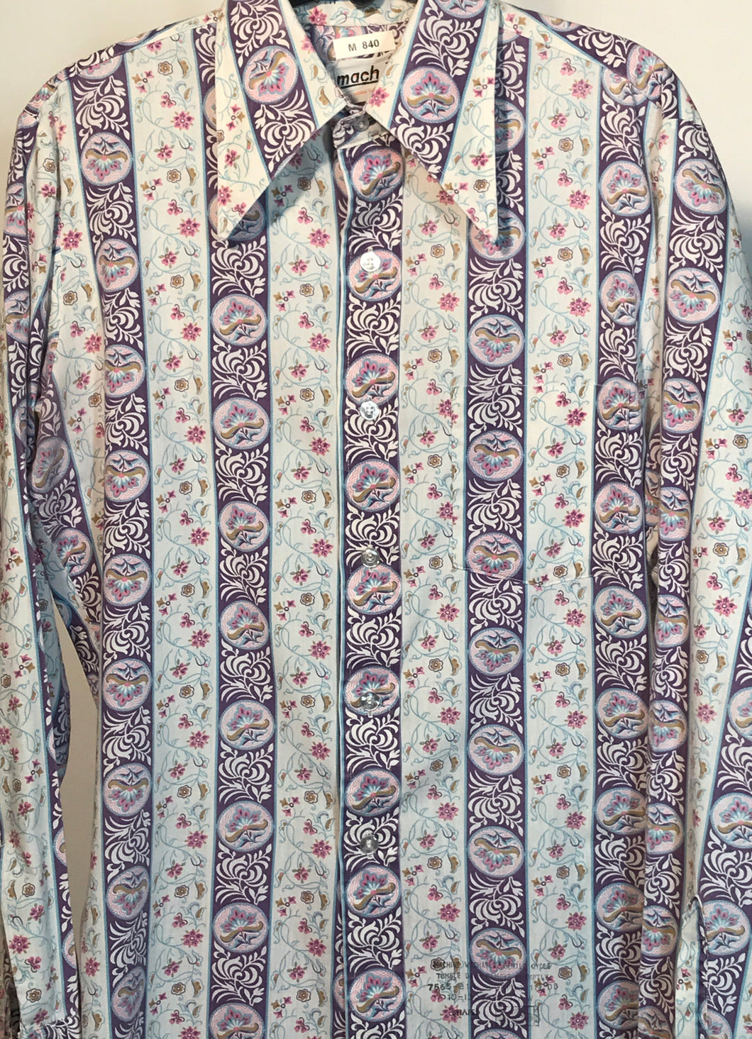 Men's Mach II by Arrow 1970s Disco Shirt Size Medium RENTAL M840