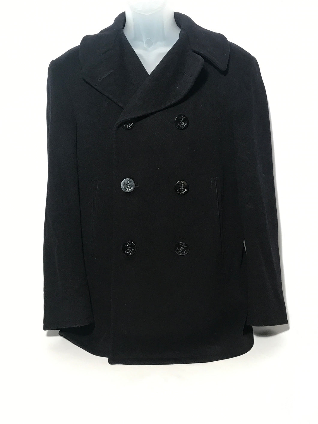 1960s Official Wool U.S. Navy Peacoat Double Breasted Size 36R