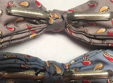 Vintage  1950s Men's Spiegler NY Clip On Bow Ties - Set Of 2 Paisley