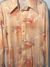 Men's Polyester 1970s Disco Shirt Size Small - Birds RENTAL S998