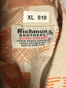 1970s Richman Brothers Men's Disco Shirt Extra Large RENTAL XL810
