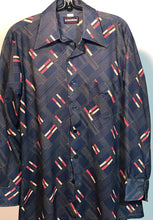 Men's Polyester 1970s Arrow Scrambler Disco Shirt Size Medium