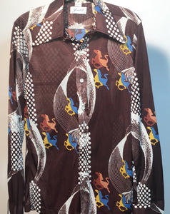 Judd Men's Polyester 1970s Disco Shirt Size Medium RENTAL