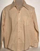 Pariani Geometric Vintage Men's Disco Shirt Size Large RENTAL