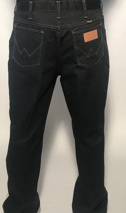 Vintage Men's Black Wrangler Pants Size 33