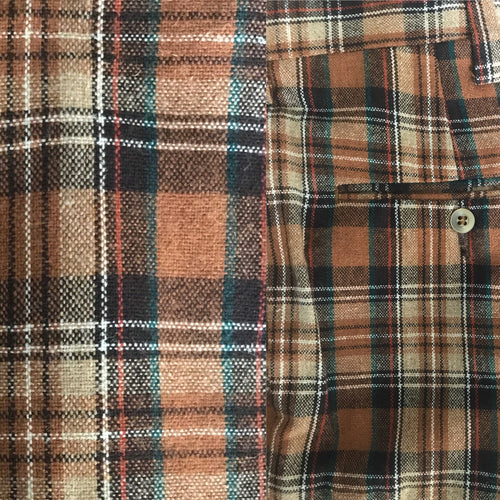 1970s Men's Unisex Vintage Wool Plaid Pants By Jantzen