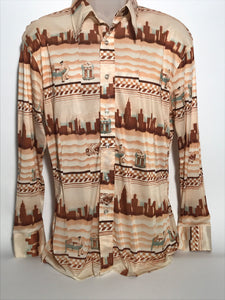 Vintage 1970s Barclay Disco Shirt Size Extra Large RENTAL XL 813