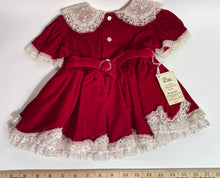 NWT Vintage Valentine Infant Red Velvet Layered Lace Crinoline Dress