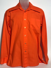 70s Orange Extra Wide Lapel Men's Disco Shirt Size Extra Large RENTAL XL871