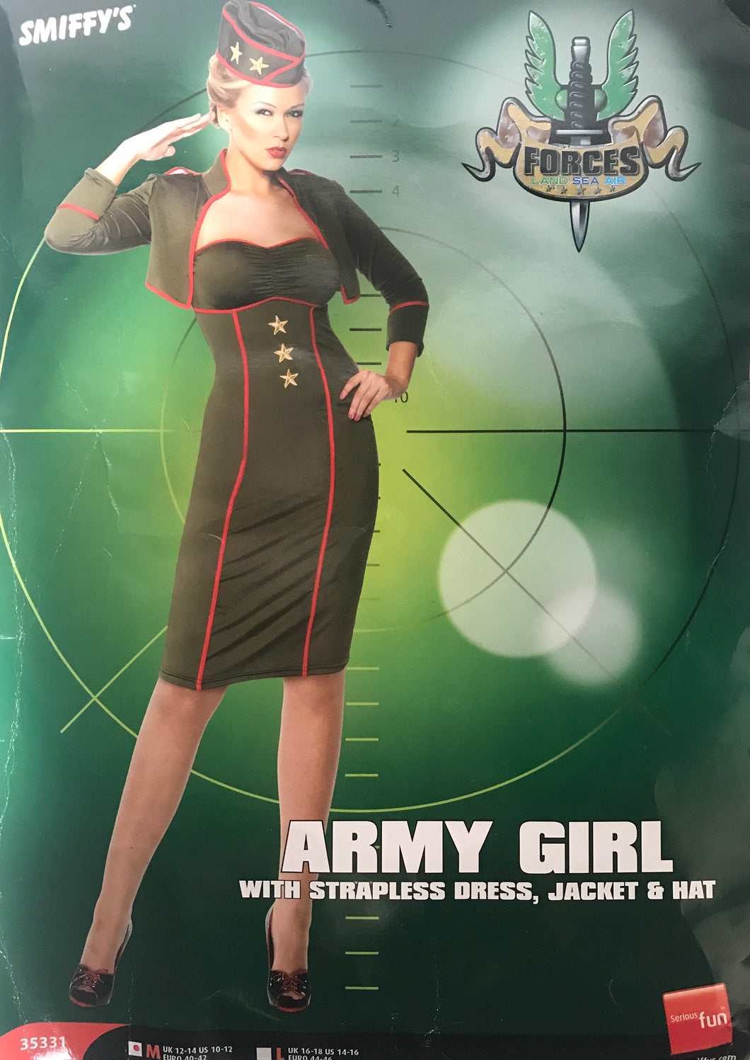 Smiffys Army Girl Adult Halloween Costume Size Medium