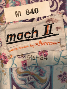 Men's Mach II by Arrow 1970s Disco Shirt Size Medium