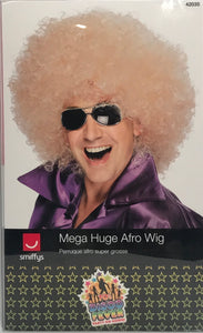 Smiffys Mega Huge Afro - Blonde Wig Costume Halloween Disco New In Box