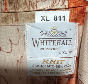 Whitehall Venice Scenic Men's Disco Shirt Size Extra Large RENTAL XL811