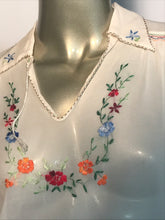 1950s Hand Embroidered Shear Blouse From World Enterprises Limited Hong Kong