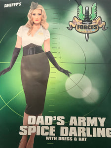 Smiffys Dad's Army Spice Darling Halloween Costume Size Small