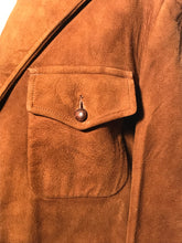 Vintage 1940s Men's McGregor Tailored Rust Brown Suede Jacket Size 40