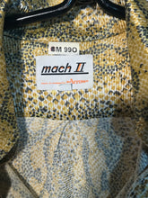 Mens Lizard Print Disco 1970s Shirt Size Medium By Mach II