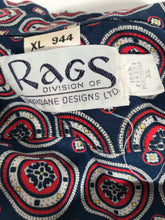 Rags Abstract 1970s Disco Shirt Size Extra Large Rental XL944