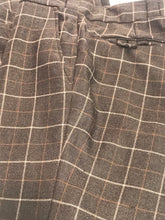 1970s Men's Vintage Wool Brown Plaid Flair Pants By Tip Top