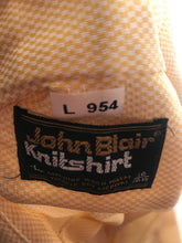 John Blair Knit Yellow Vintage Men's Disco Shirt Size Large RENTAL