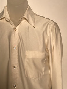 Vintage 1970s Nylon Men's Disco Shirt Size Small RENTAL