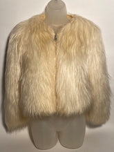 1970s Mongolian Shearling Faux Long Fur Waist Jacket Medium