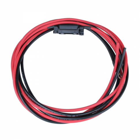 Solar Charging Battery Connection Cables - 3 metre 16mm2 with fuse
