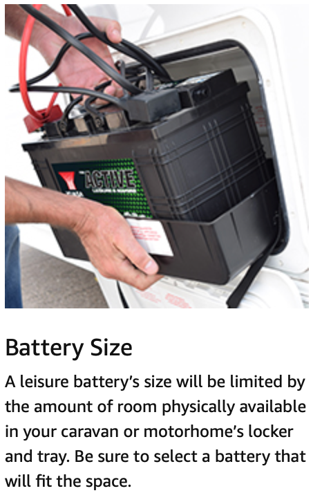 Low Height 100Ah Leisure Battery