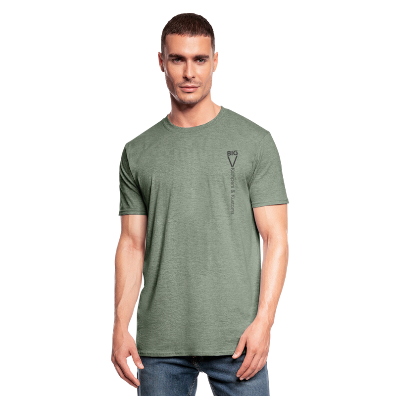 Kampers & Kustoms Unisex Polycotton T-Shirt - heather military green
