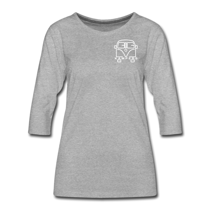 Women's Premium 3/4-Sleeve T-Shirt - heather grey