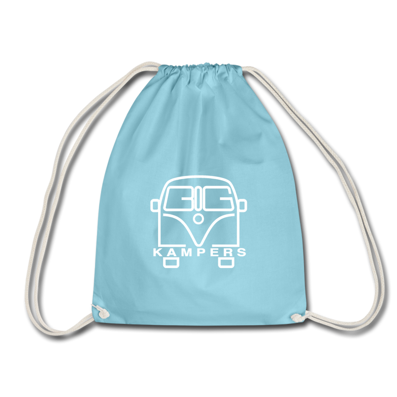Drawstring Bag - fits our mains hookup leads & more! - aqua