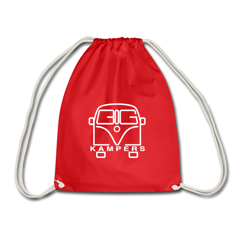 Drawstring Bag - fits our mains hookup leads & more! - red