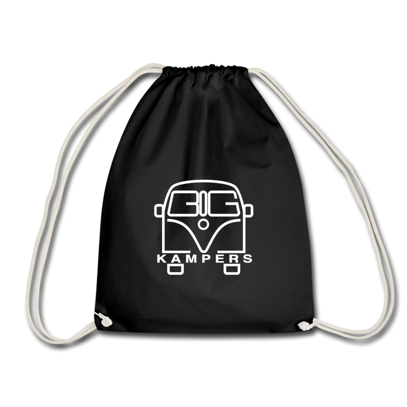 Drawstring Bag - fits our mains hookup leads & more! - black