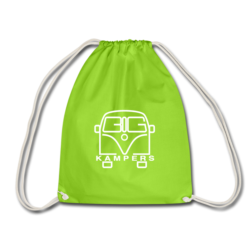 Drawstring Bag - fits our mains hookup leads & more! - neon green