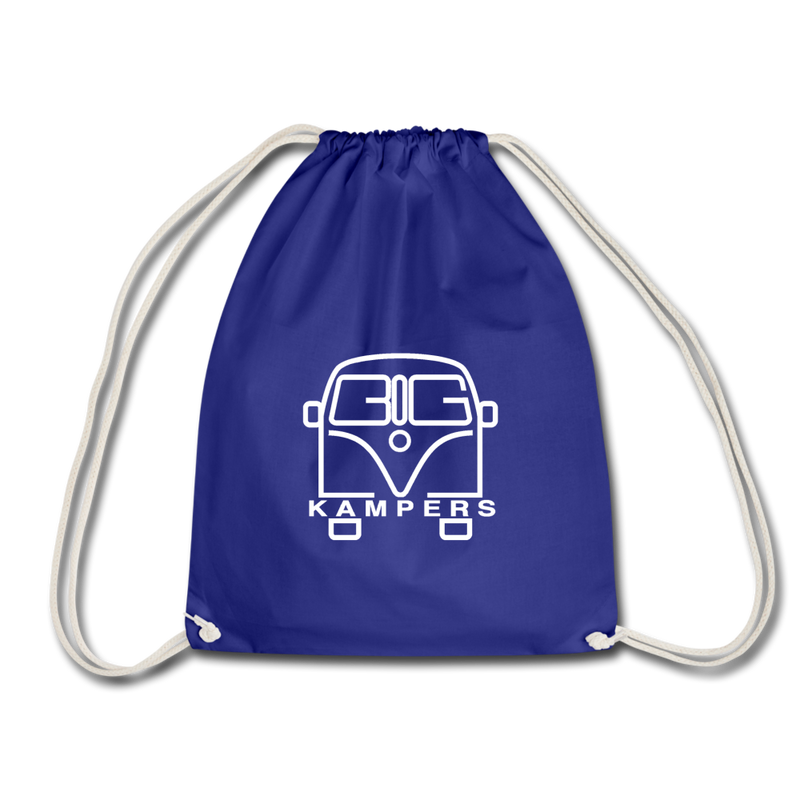 Drawstring Bag - fits our mains hookup leads & more! - royal blue