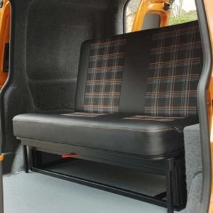 Rusty Lee Rock & Roll Bed Seat for VW Caddy - TUV Approved!