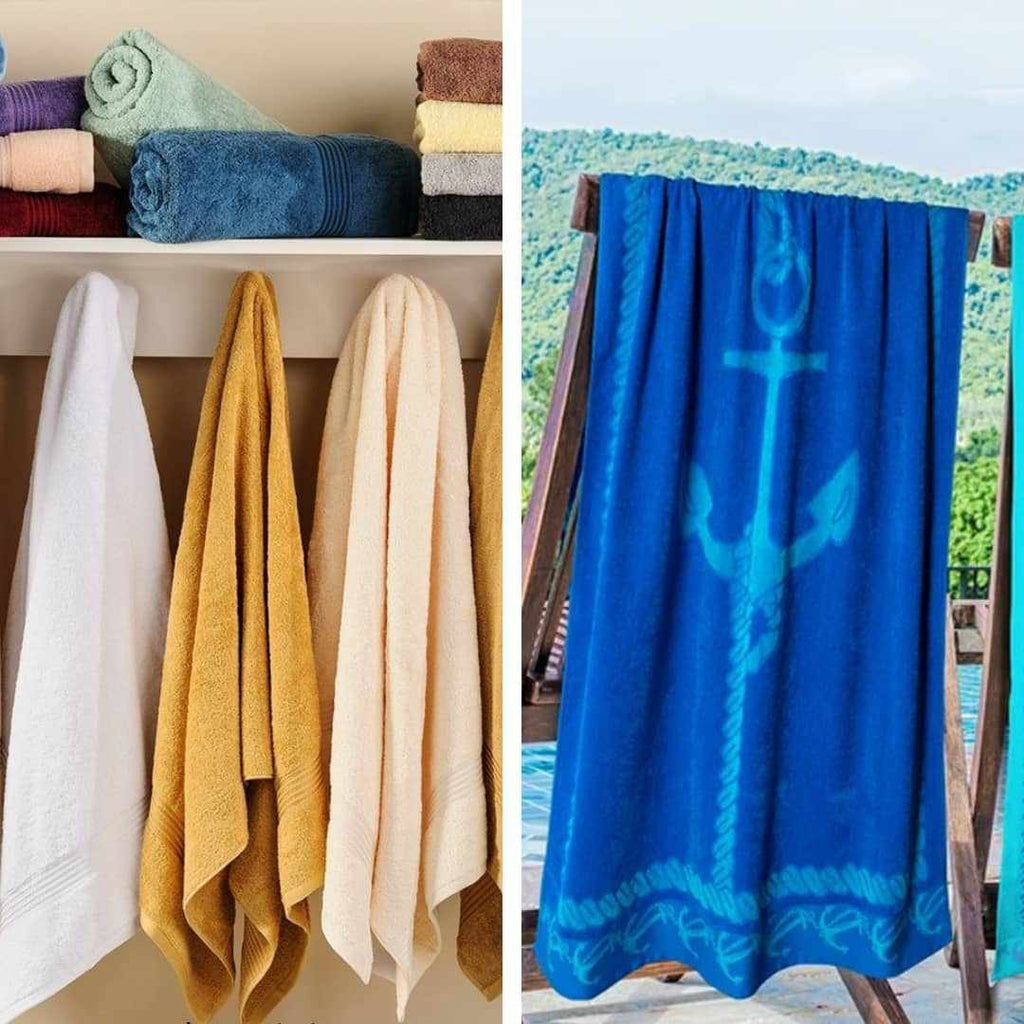 difference between bath towels and beach towels