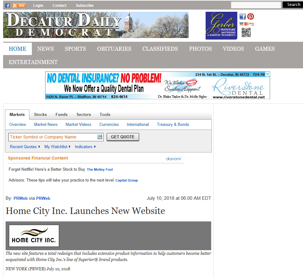 Home City Inc  Launches New Website – homecityinc