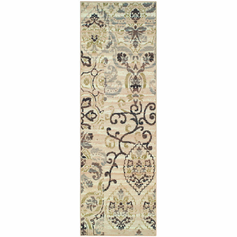 Caldwell Floral Damask Area Rug, Transitional