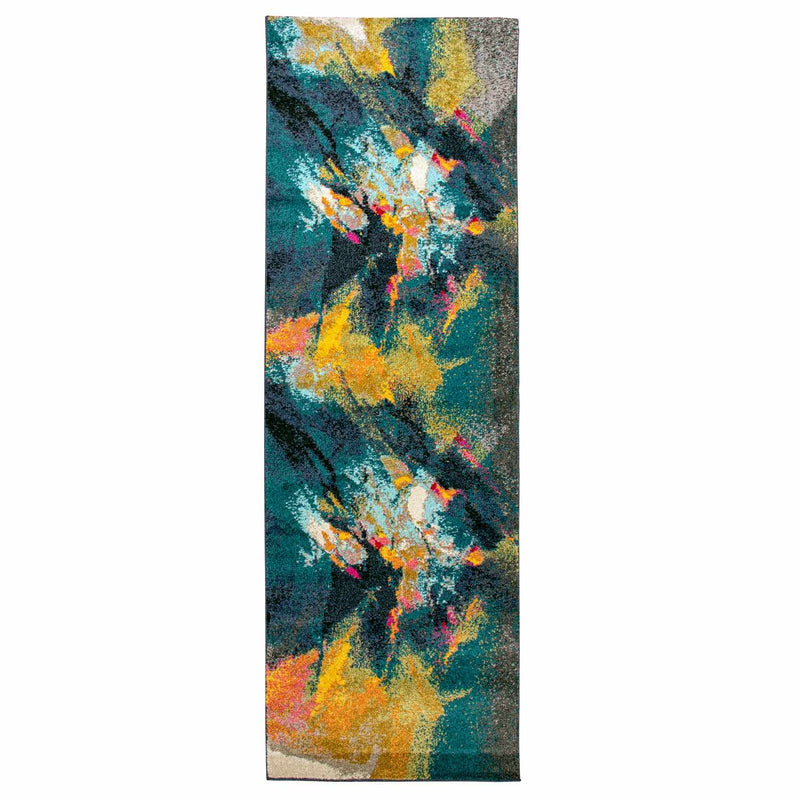 Caspian Area Rug, Abstract, Modern Setting
