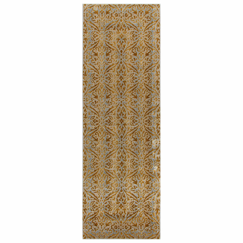 Cressida Traditional Distressed Iridescent Damask Rug