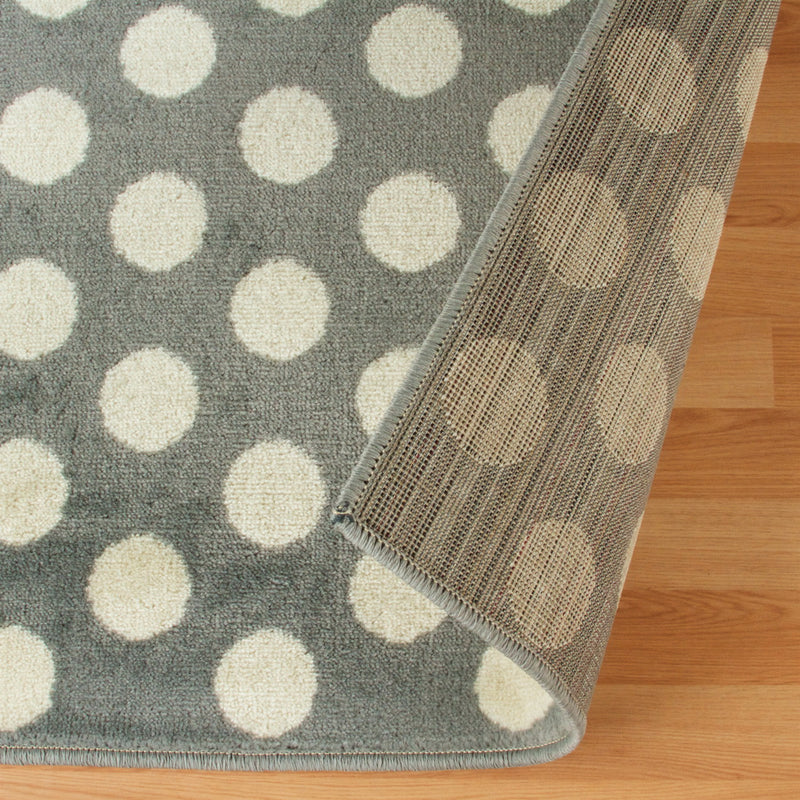 Dot Area Rug, Chic, Polka Circles, Modern Setting