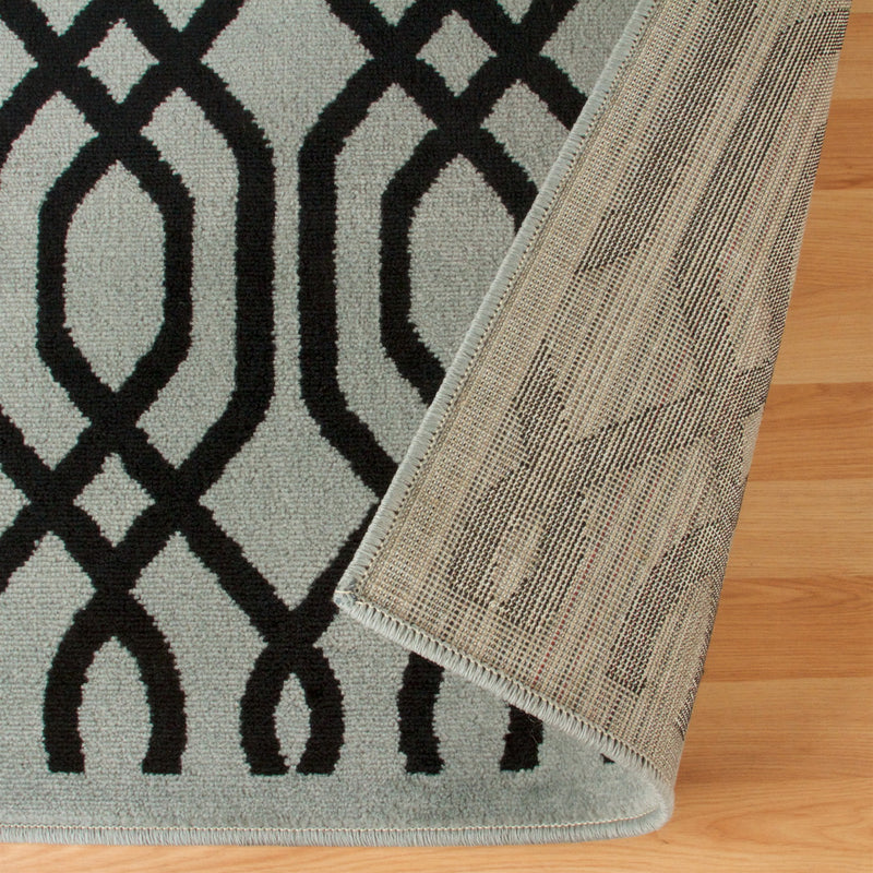 Gryffon Area Rug, Geometric, Lattice Pattern, Vintage