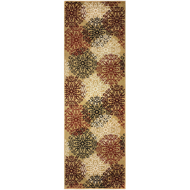 Leigh Area Rug, Floral Medallion, Vintage, Contemporary