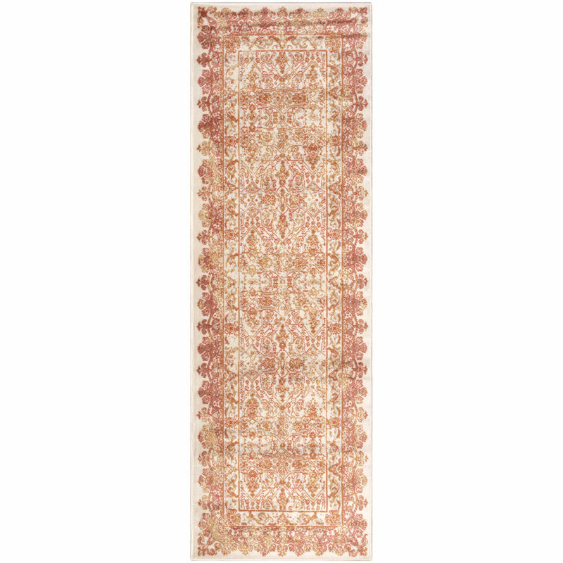 Myel Oriental Mid-Century French Pattern Area Rug