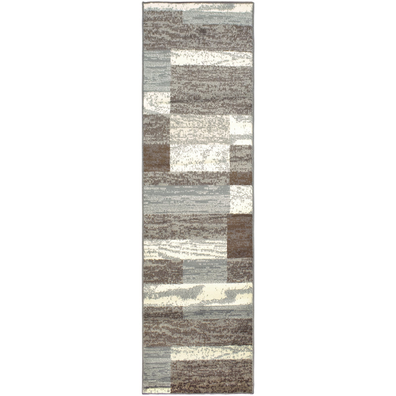 Rockwood Area Rug, Geometric Brick Pattern, Modern