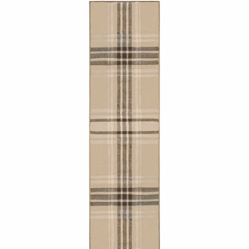 Tartan Striped Area Rug Collection