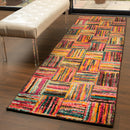 Twila Modern Patchwork Rainbow Cookies Design Area Rug