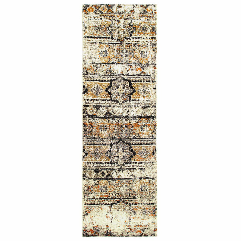 Zebrina Indoor Area Rug, Floral, Moroccan, Distressed, Vintage Design